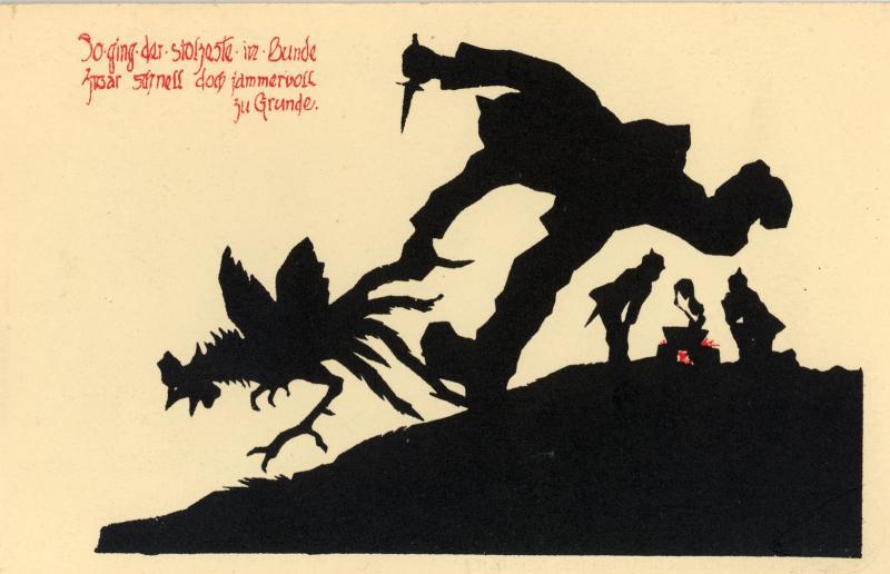 Антифранцузские немецкие открытки времен Первой мировой