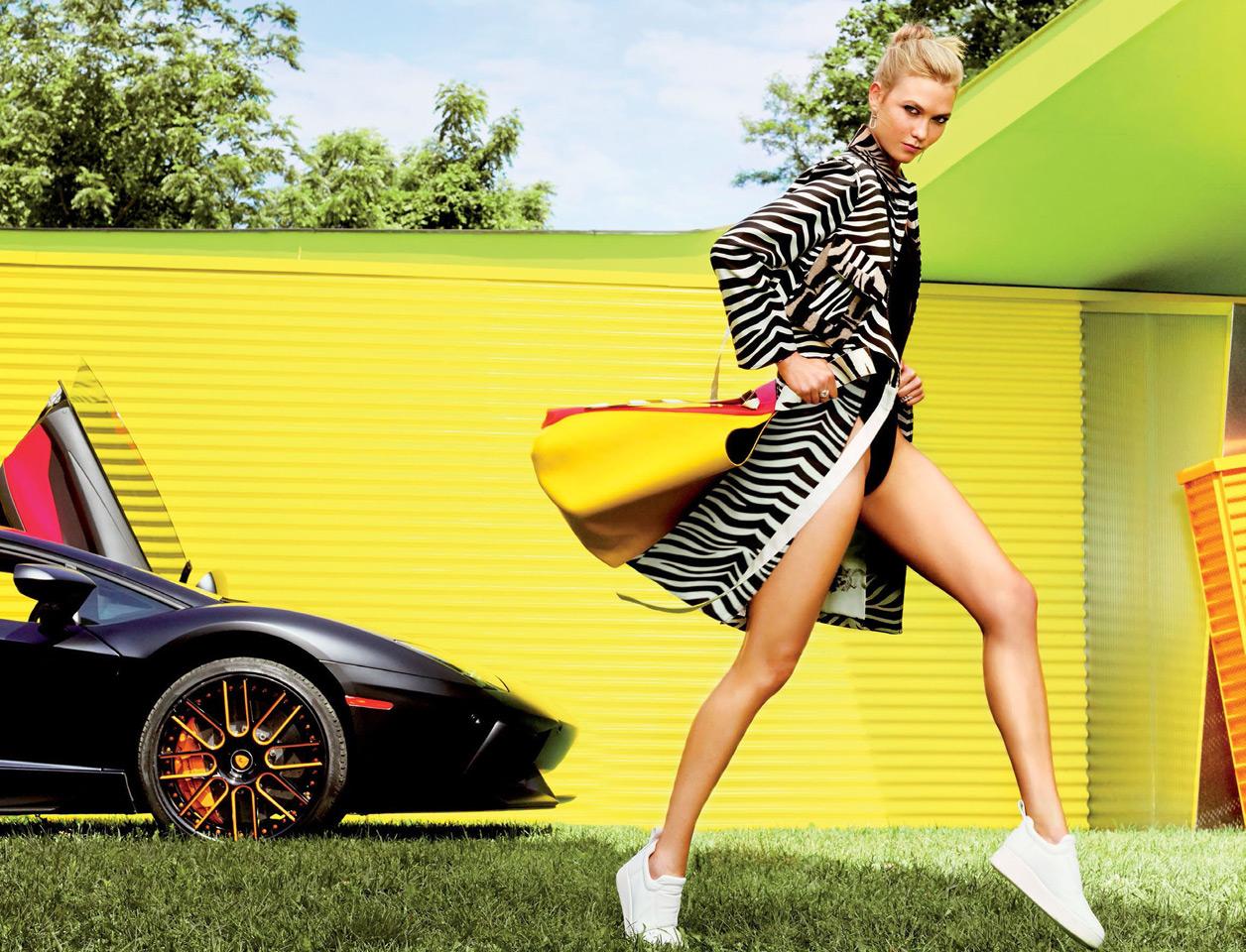 Карли Клосс в журнале Glamour (10 фото)