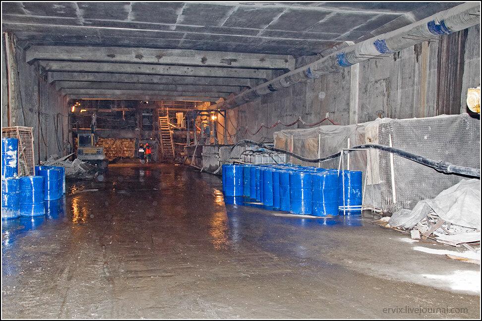 Въезд в тоннель почти готов