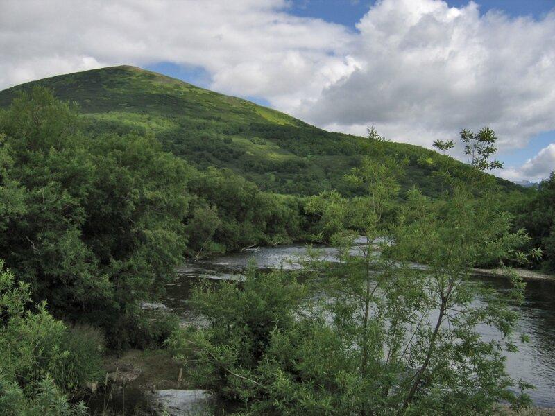Пейзаж в средней части Камчатки