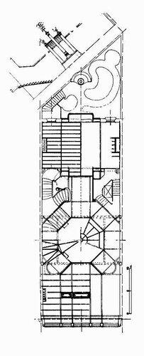 Отель van Eetvelde в Брюсселе, архитектор Виктор (Гектор) Гимар, план 1-ого этажа