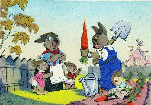 Зайцы. Изогиз. 1956