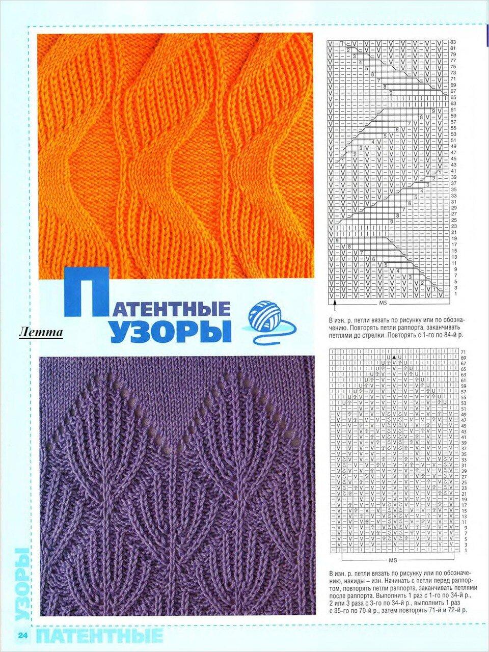 Виды вязания узоров 46