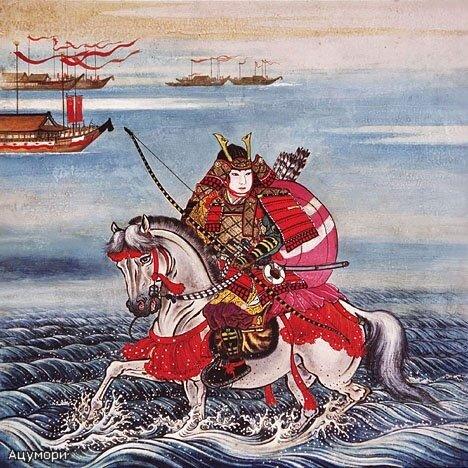 Ацумори направляется к судну, дрейфующему поодаль.