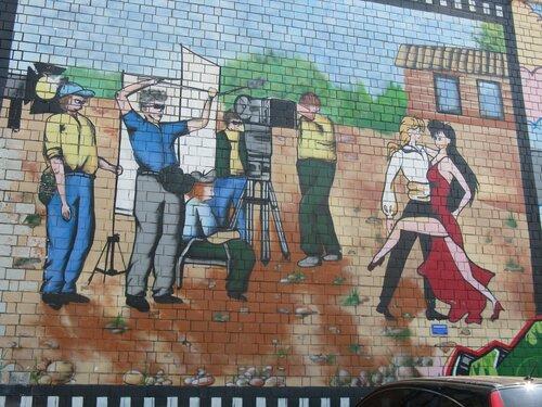 Графити на стене здания