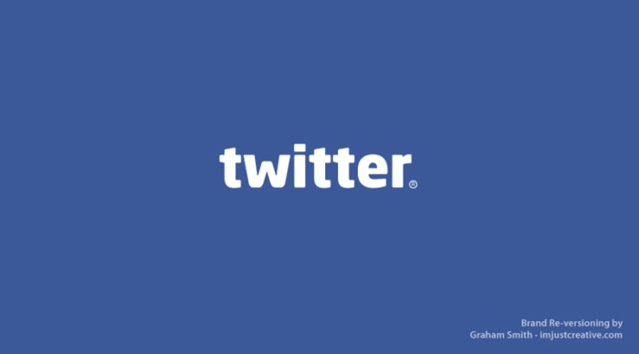логотип Twitter выглядит как Facebook - бренды которые поменяли местами