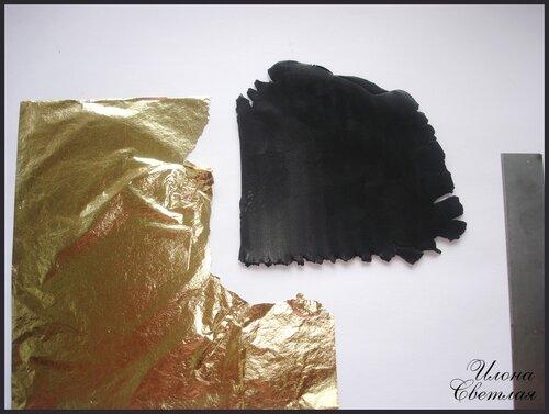 Мастер-класс по лепке из полимерной пластики: Бусы с поталью.
