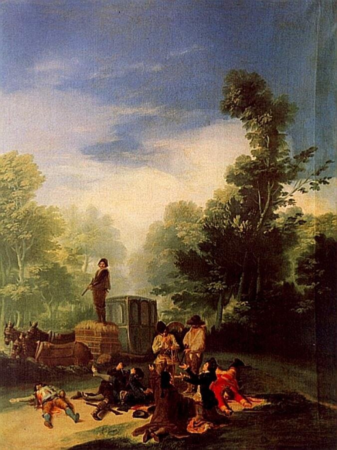 Нападение на карету. 1787 Гойя