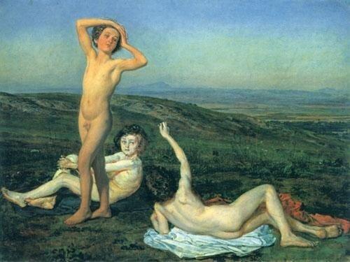 Три нагих мальчика. Государственный Русский музей. Иванов А.А. (1806-1858)