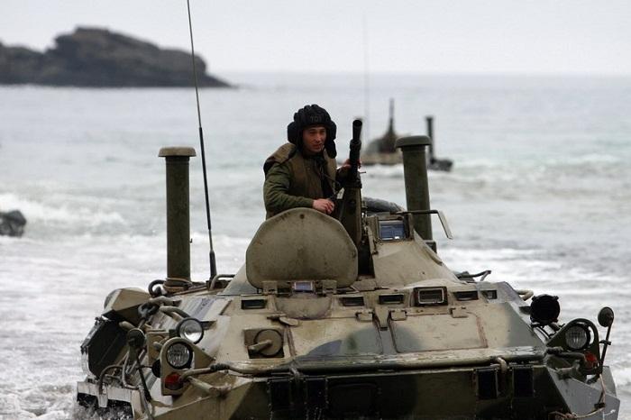 Морские пехотинцы Тихоокеанского флота приступили к полевым занятиям
