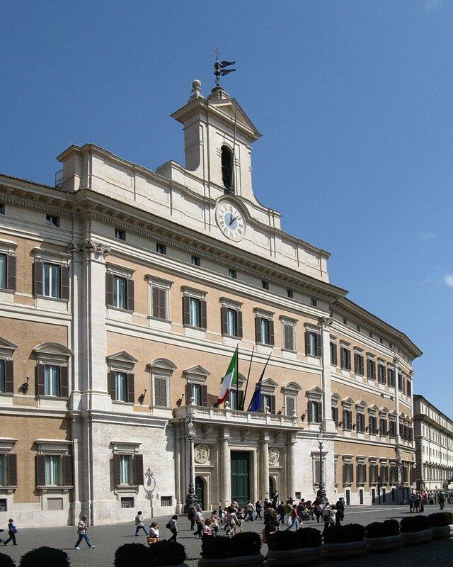 Рим. Дворец Монтечиторио (Palazzo Montecitorio)