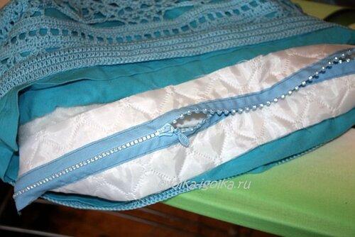Вязанная сумка. Процесс.
