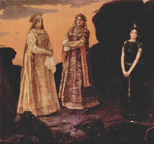 Виктор Васнецов. Три царевны подземного царства. 1879 год