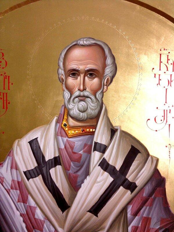 Святитель Николай, Архиепископ Мир Ликийских, Чудотворец. Иконописец Зураб Модебадзе.