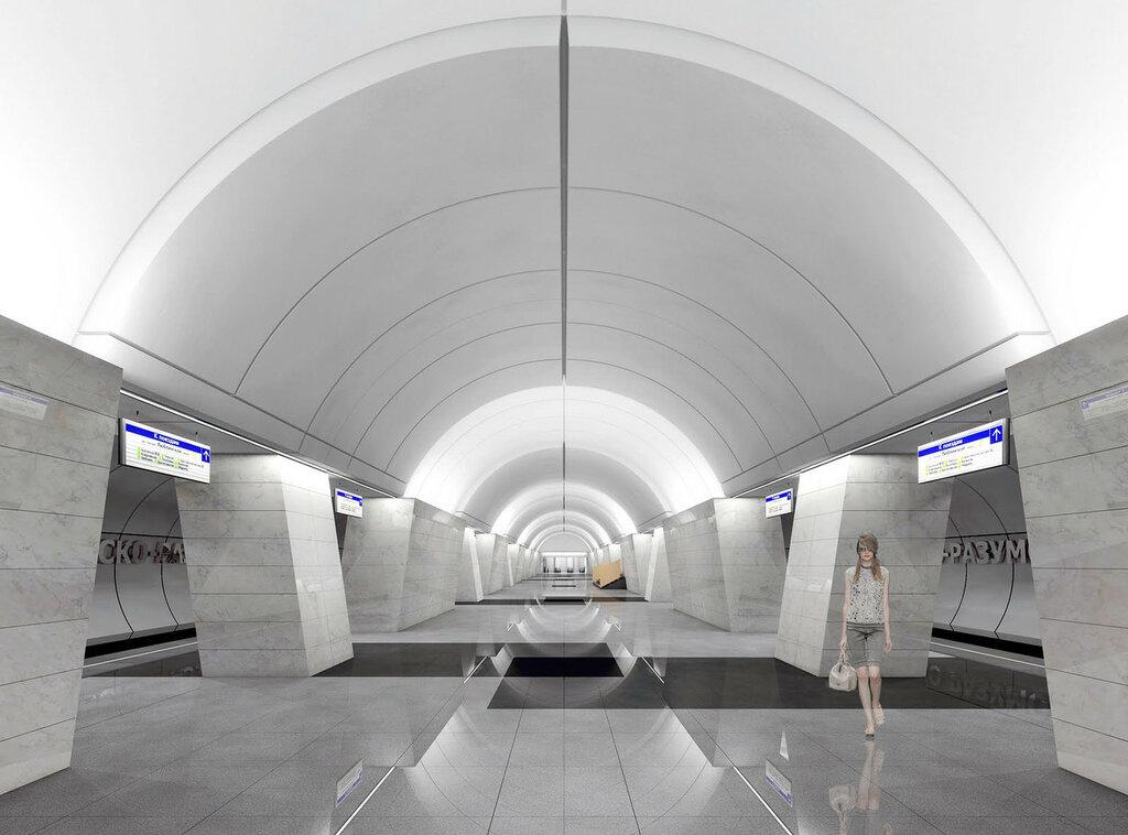 Рендер будущего вестибюля. © Метрогипротранс. Изображение с форума «Наш транспорт»