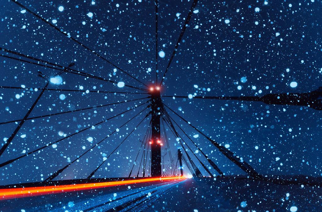 Кировский мост зимой