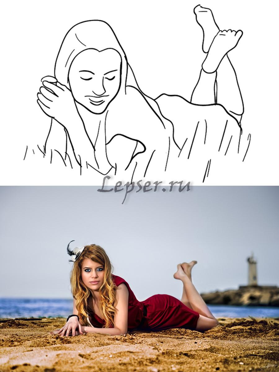 Девицы на море ню русское порно