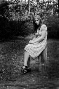 В расфокусе портрет, фотосессия, tilt, вечер, Женя