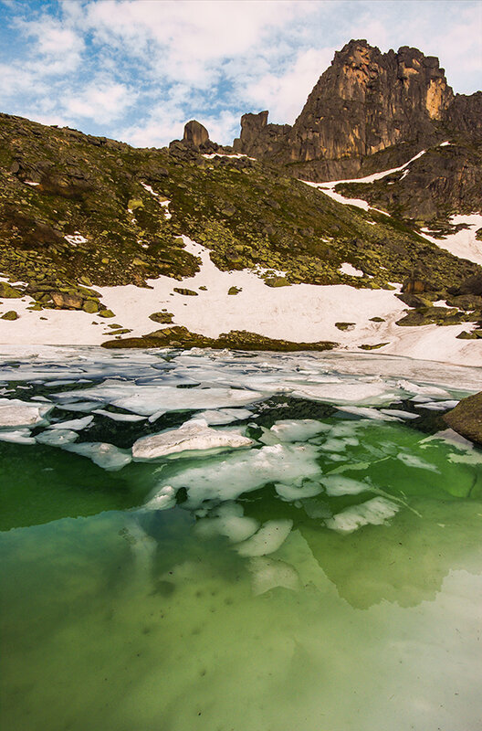 Лёд в глубине и на поверхности