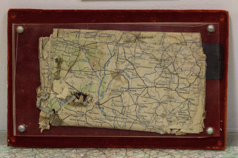 Карта штурмана, пробитая пулей