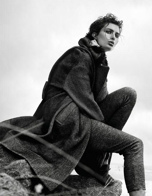 фотосессия Андреа Диакону Vogue Paris октябрь 2014