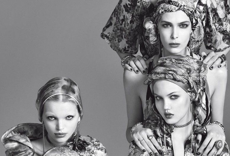 ������ �������� ���������, ������ ������ � ����� ���������� / Kristina Salinovic, Lindsey Wixson and Daphne Groeneveld, �������� Steven Meisel