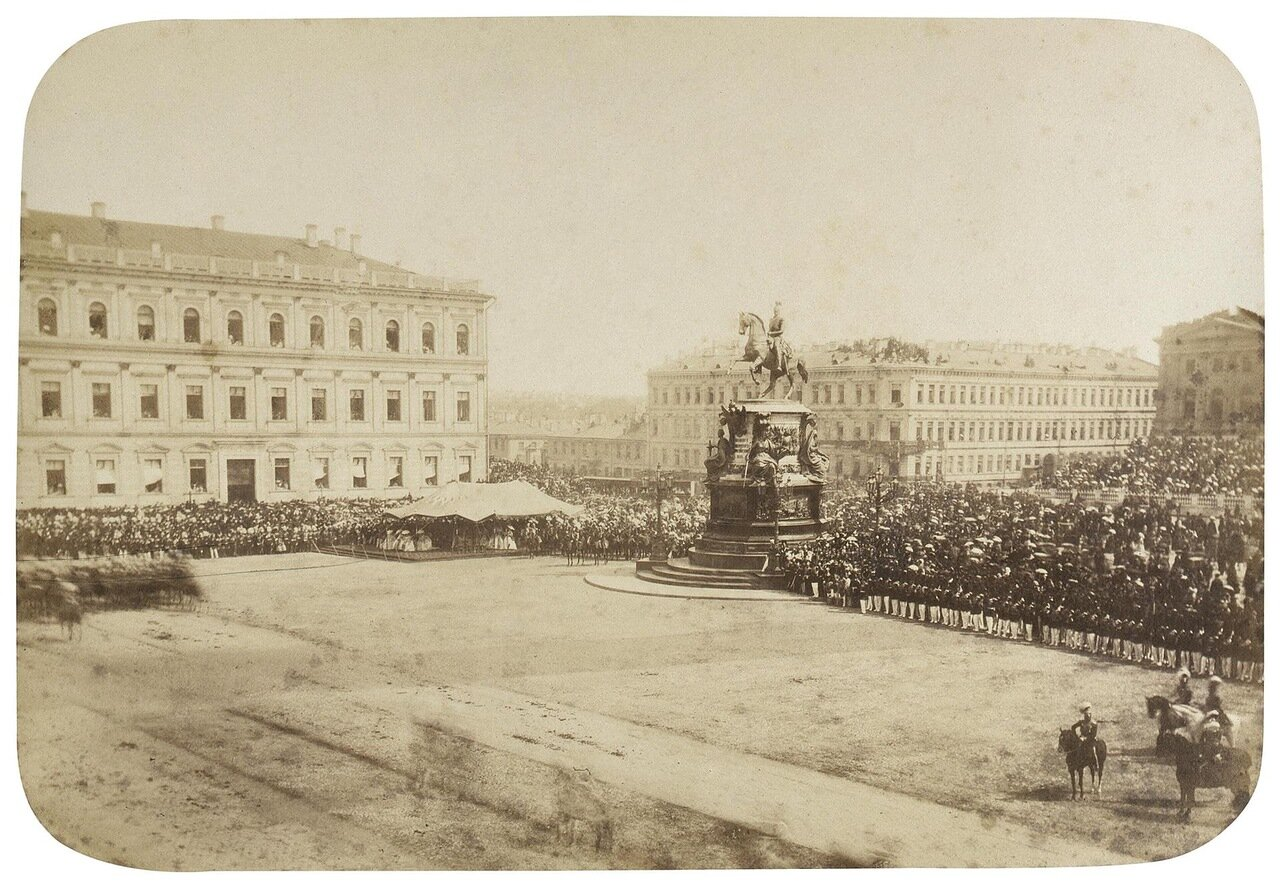 Памятник Императору Николаю I в день открытия. 1859