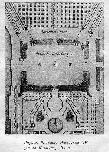 Площадь Людовика XV в Париже, современная площадь Конкорд