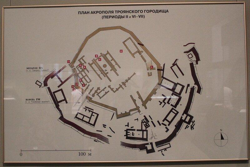 План акрополя троянского городища (периоды II и VI-VII)