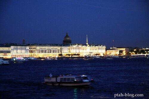 петербург, ночная съемка, экономический форум