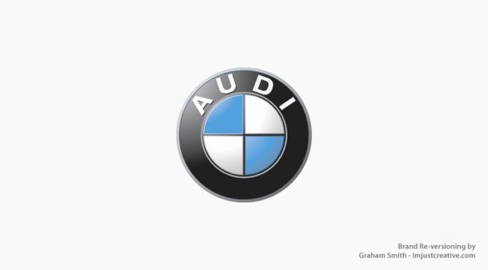 логотип Audi стал похож на BMW - бренды которые поменяли местами