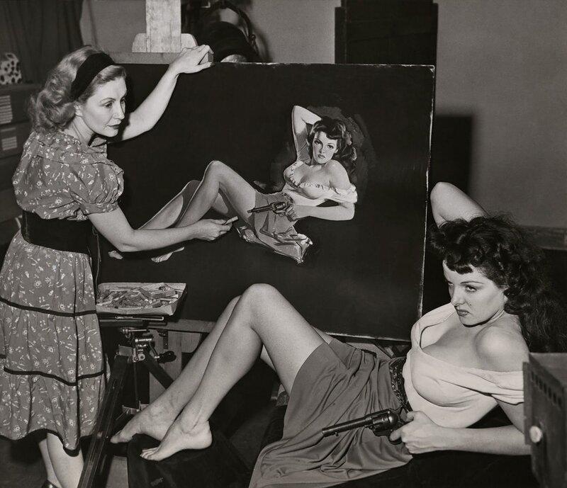 Pin up artist Zoë Mozert Paints Jane Russell