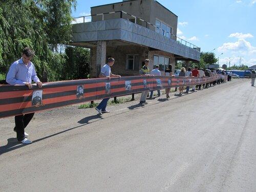 100 метров георгиевской тленты на кпп должанский