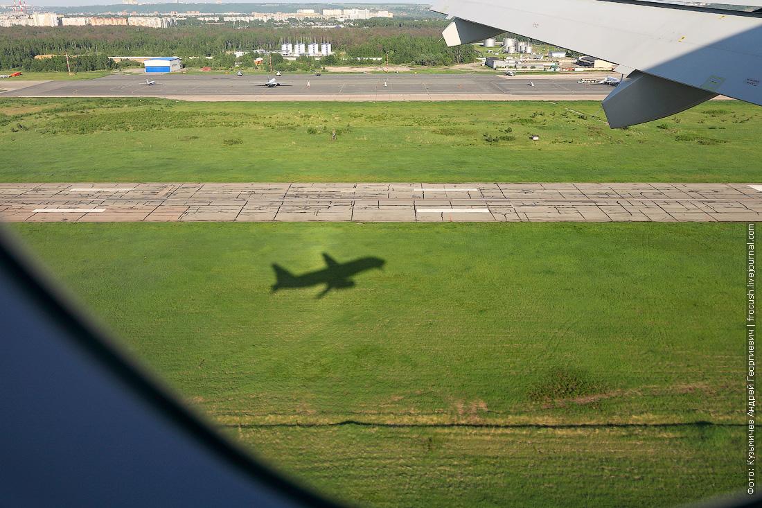 взлет в Нижнем Новгороде Аэрофлот Sukhoi Superjet 100
