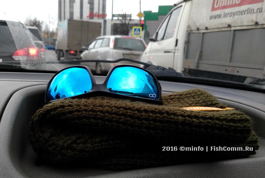 Очки поляризационные FGPO PRO1 Revo Ice Blue на шапке Shimano