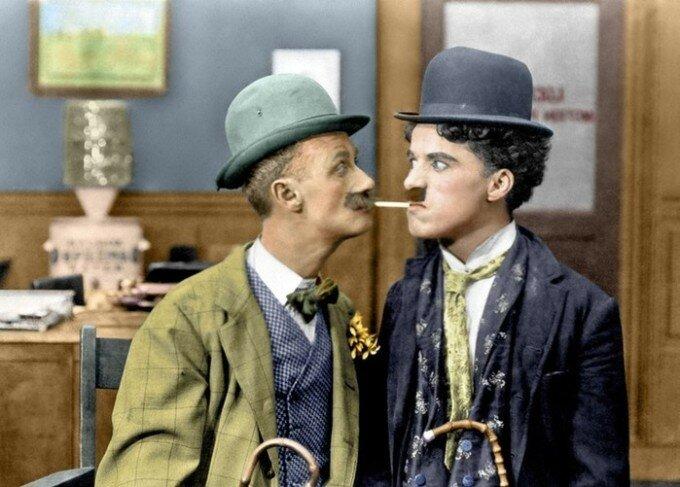 Раскрашенные фотографии Чарли Чаплина (1910 1930 е годы)
