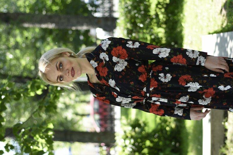 Цветочные мотивы: платье-рубашка