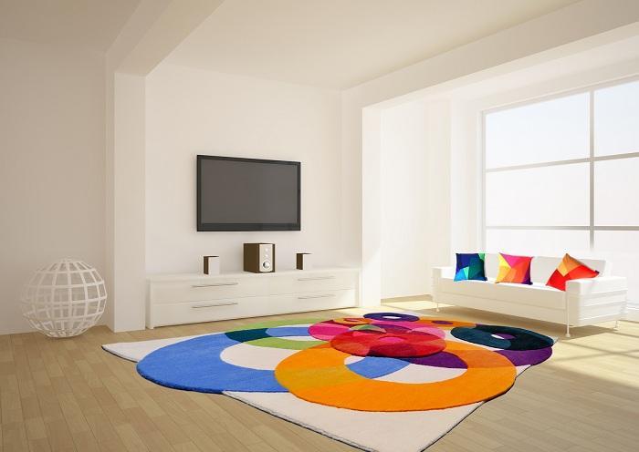 Внести в жизнь яркости и красок помогут обычные коврики (17 фото)