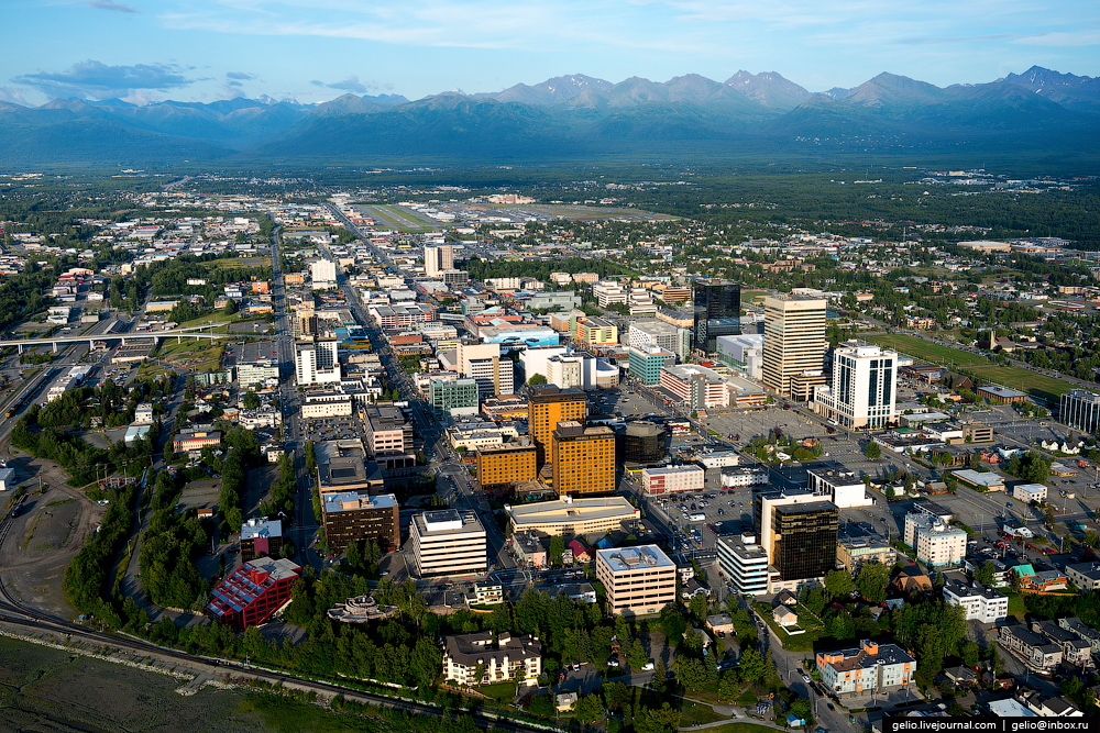 Анкоридж с высоты | Anchorage from above