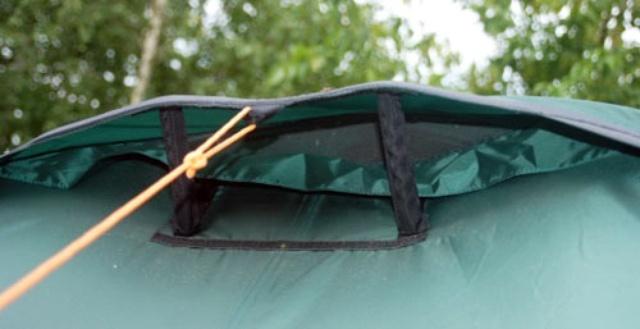 вентиляционное окно в палатке от конденсата