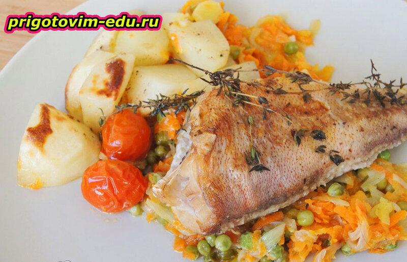 Рыба паровая с тимьяном