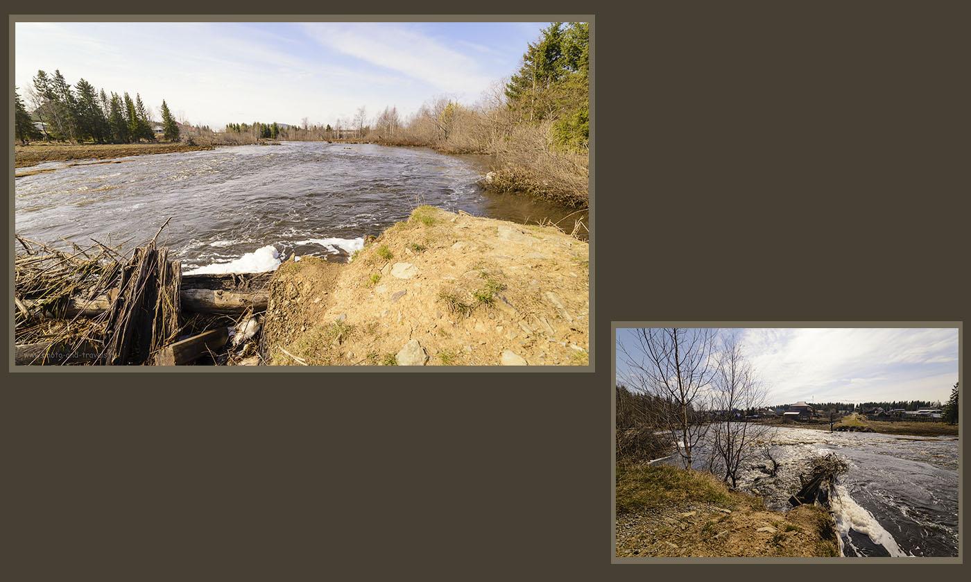Фото 10. Горная река Большая Сатка у подножья хребта Зюраткуль в национальном парке в Челябинской области.