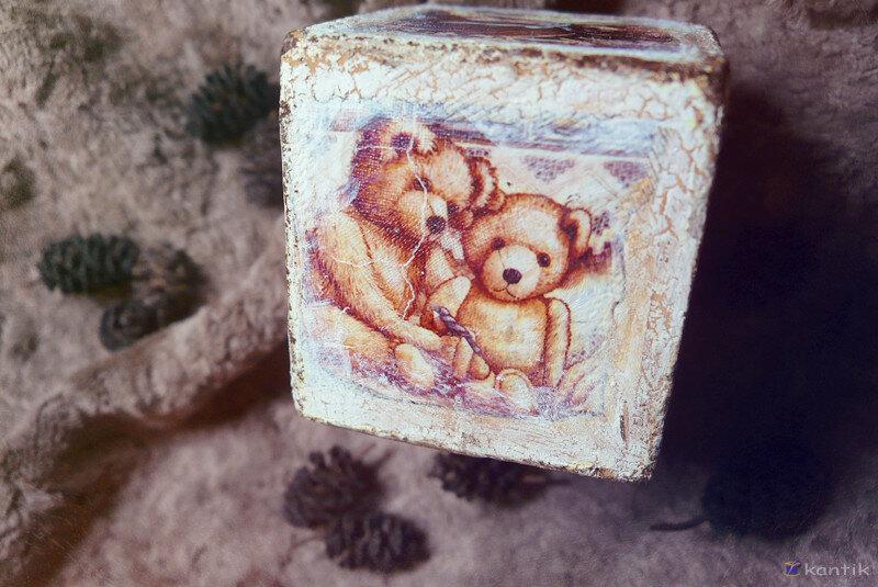 Кубики интерьерные деревянные декоративные