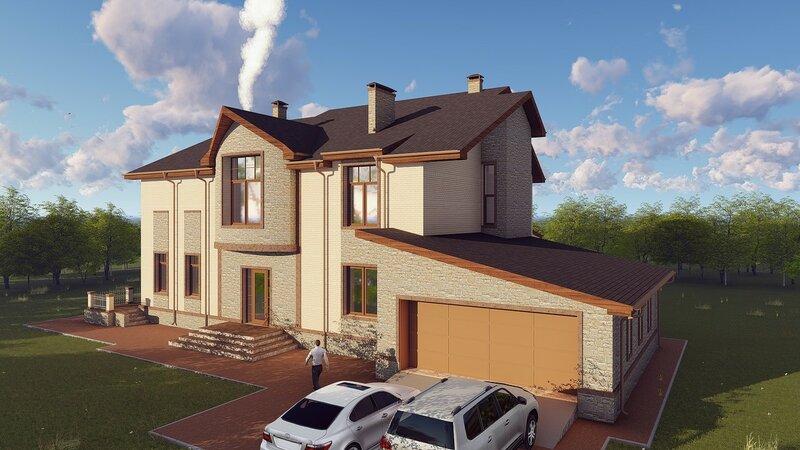 проект дома, визуализация 7