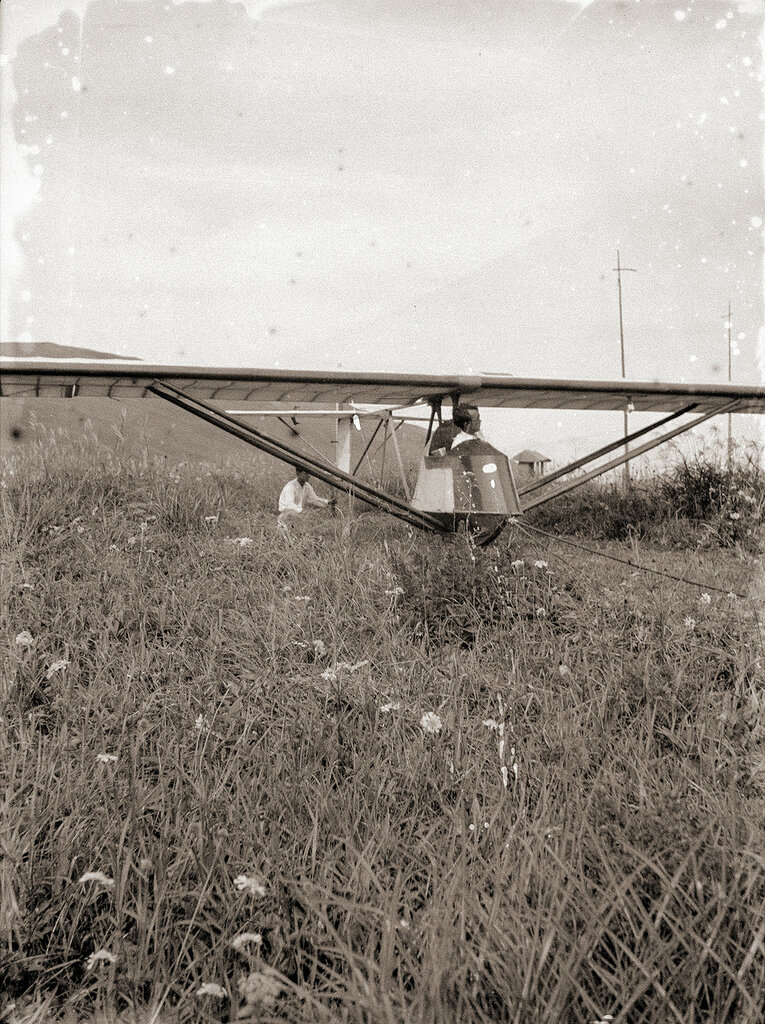 1930s Glider Attached to Rope, Kirigamine Japan