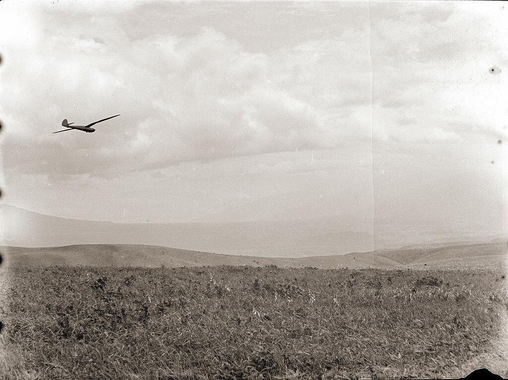 1930s Japanese Glider in Flight