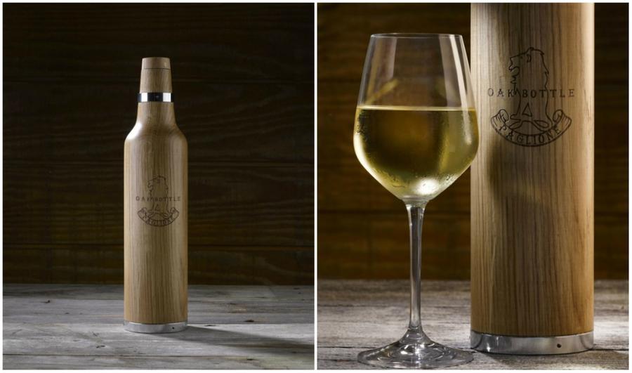 7. Дубовая бутылка Сделать напитки более выдержанными поможет вот такая бутылка из древесины белого