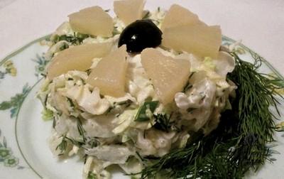 Ананасовый салат с капустой