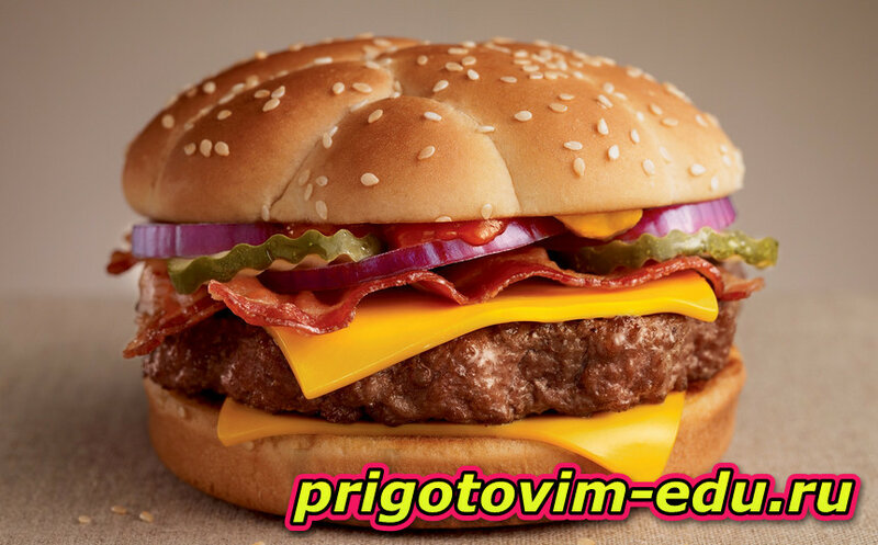 Рецепт Смайл - бургер для детей