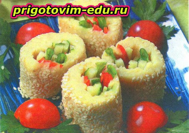 Картофельные роллы с овощами